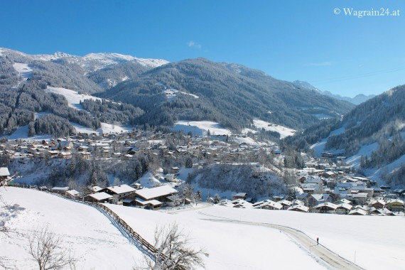 Foto - Webcam Ortspanorama Wagrain im Winter